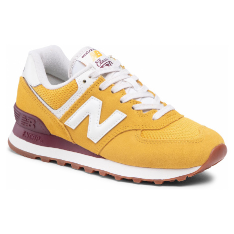 Sneakersy NEW BALANCE - WL574VE2 Żółty