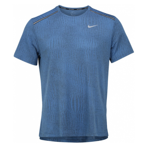 NIKE Koszulka funkcyjna 'DRY MILER SS JACQUARD' niebieski