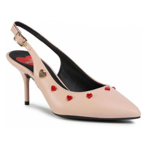 LOVE MOSCHINO Sandały JA10067G1BIA0609 Różowy