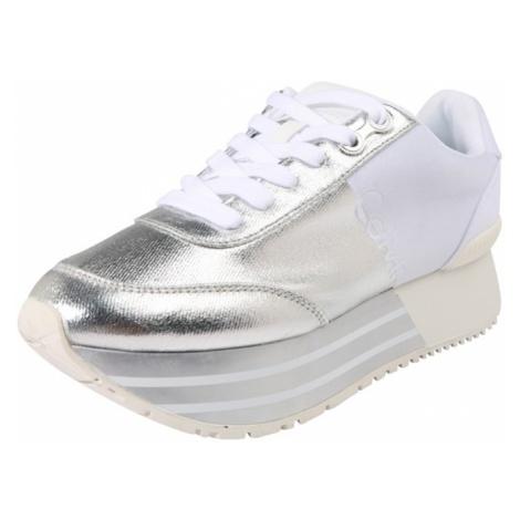Calvin Klein Jeans Trampki niskie 'Sneaker' srebrny / biały
