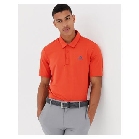 Adidas Golf Ultimate 365 Polo In Orange