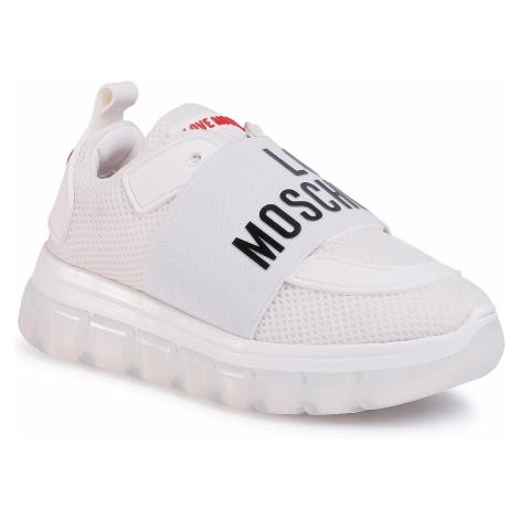 Sneakersy LOVE MOSCHINO - JA15145G0AJS0100 Bianco