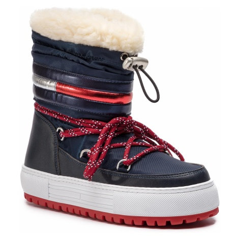 Buty TOMMY JEANS - Corporate Snowboot EN0EN00418 Midnight 403 Tommy Hilfiger
