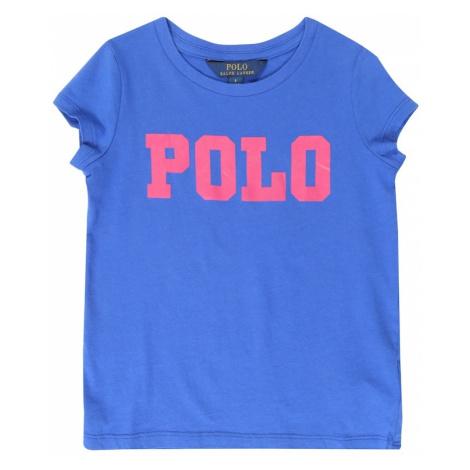 POLO RALPH LAUREN Koszulka 'COTTON ENZYME' niebieski / ciemnoróżowy
