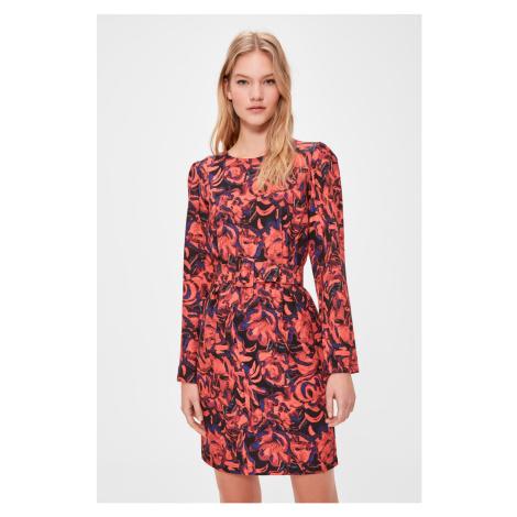 Trendyol Red Patterned BeltEd Dress