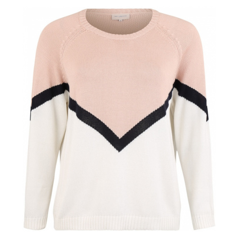 ONLY Carmakoma Sweter 'CARSARA ' biały / różany