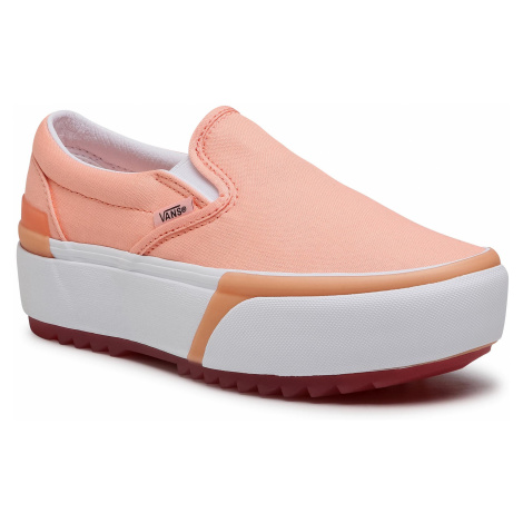 Tenisówki VANS - Classic Slip-On S VN0A4TZV46M1 (Pastel) Peach Pearl/ Trwht