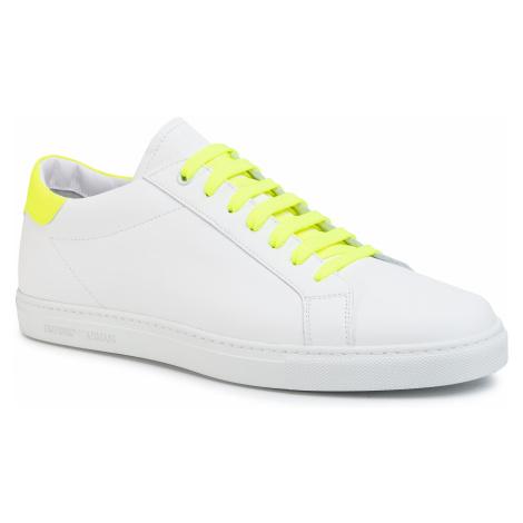 Sneakersy EMPORIO ARMANI - X4X272 XM421 R862 Opt.White/Yellow Flu