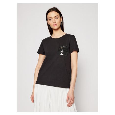 DKNY T-Shirt P0RAOC2R Czarny Regular Fit