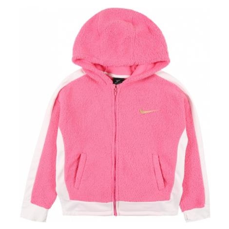 NIKE Sportowa bluza rozpinana złoty / różowy / biały