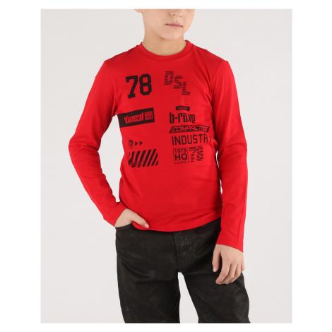 Diesel Tiago Koszulka dziecięce Czerwony