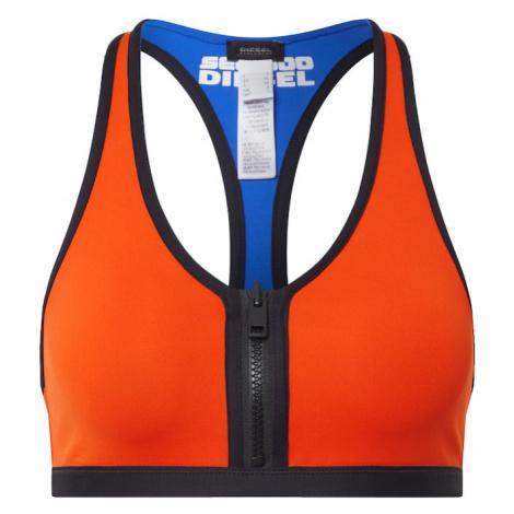 DIESEL Góra bikini pomarańczowy / czarny