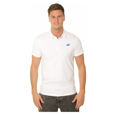 T-shirt 4F H4L19-TSM023 Polo - 10S/White