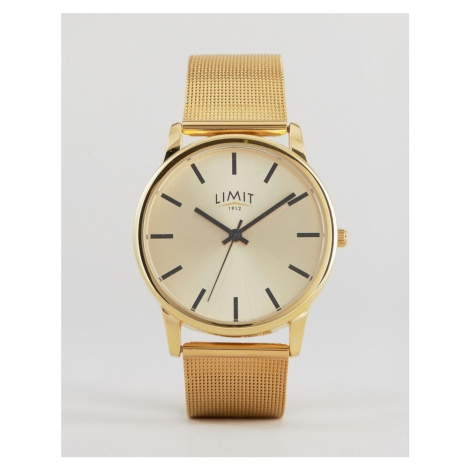 Limit mesh watch in gold exclusive to ASOS