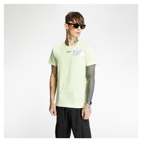 Helmut Lang Patch Logo Pocket Tee Electric Yellow
