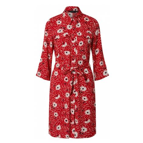 Dorothy Perkins Sukienka koszulowa 'Daisy Print Utility Shirt Dress' czerwony
