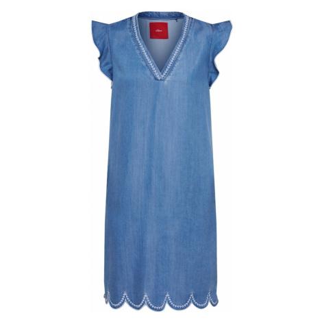 S.Oliver Letnia sukienka niebieski denim