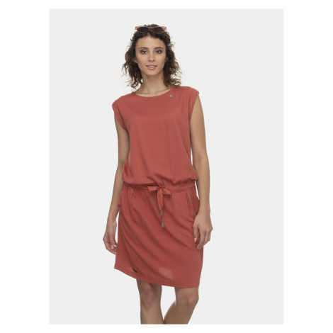 Ceglana sukienka Ragwear Mascarpone