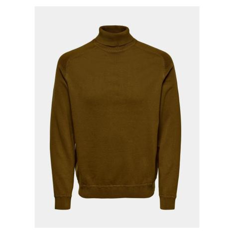 ONLY & SONS brązowy męski sweter Kaleb