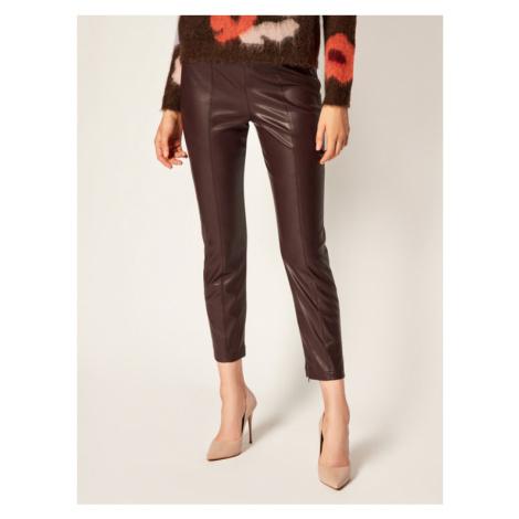 IBlues Spodnie skórzane Bartolo 77860306 Brązowy Slim Fit