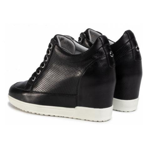 Geox Sneakersy D Carum C D02ASC 08514 C9999 Czarny
