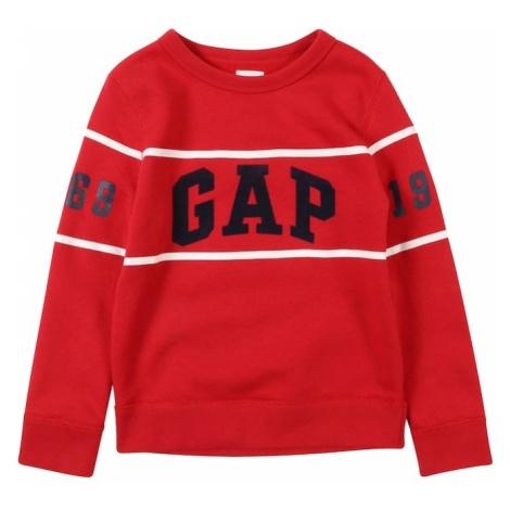 GAP Bluza 'ARCH CREW' czerwony / czarny / biały
