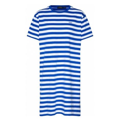 POLO RALPH LAUREN Sukienka 'SS TSHRT DRS-SHORT SLEEVE-CASUAL DRESS' niebieski / biały