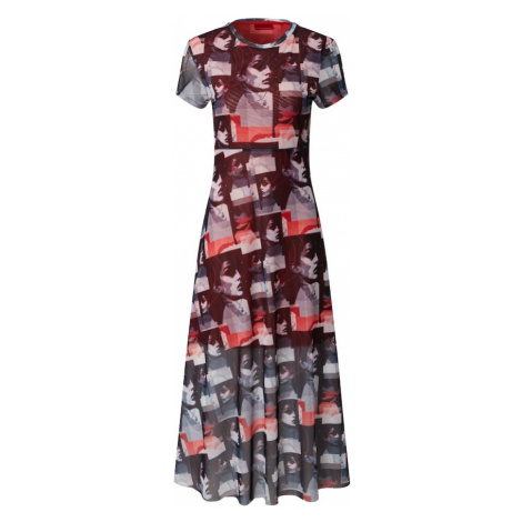 HUGO Sukienka 'Nimana' czerwony / niebieska noc Hugo Boss