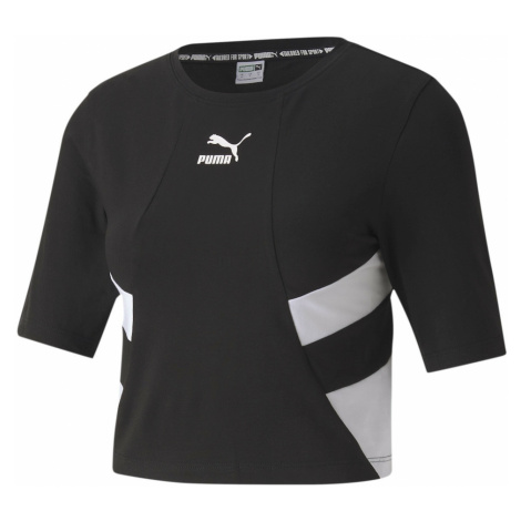 PUMA Koszulka funkcyjna czarny / biały