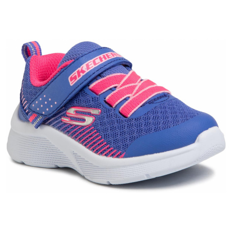 Sneakersy SKECHERS - Microspec 302016N/BLNC Blue/Neon Coral