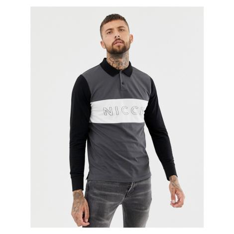 Nicce long sleeve polo shirt with logo