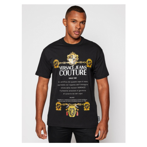 Versace Jeans Couture T-Shirt B3GZB7TL Czarny Regular Fit