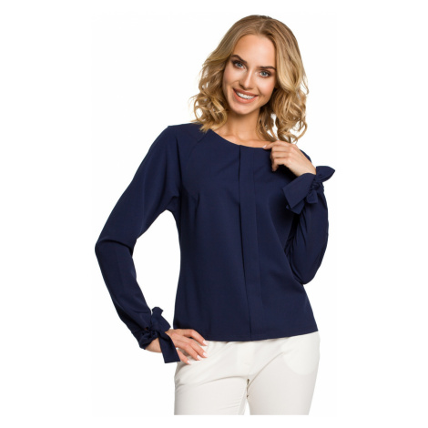 Made Of Emotion Woman's Blouse M322 Navy Blue