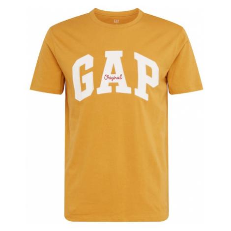 GAP Koszulka 'ORIG ARCH T' żółty / biały