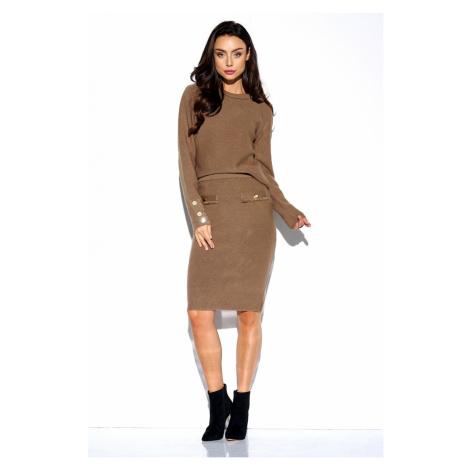 Lemoniade Woman's Set (Sweater/Skirt) LSG118 Cappuccino