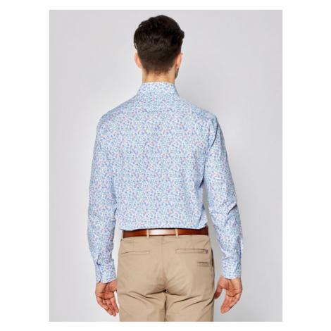 Tommy Hilfiger Tailored Koszula Floral Print Classic TT0TT06827 Niebieski Regular Fit