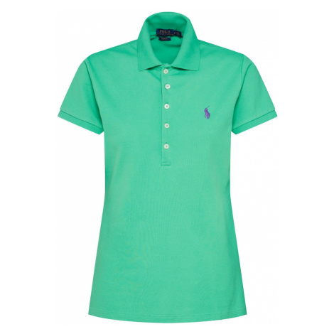 POLO RALPH LAUREN Koszulka 'JULIE' zielony / ciemnofioletowy