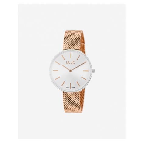 Liu Jo Glamour Globe Maxi Zegarek Srebrny Beżowy