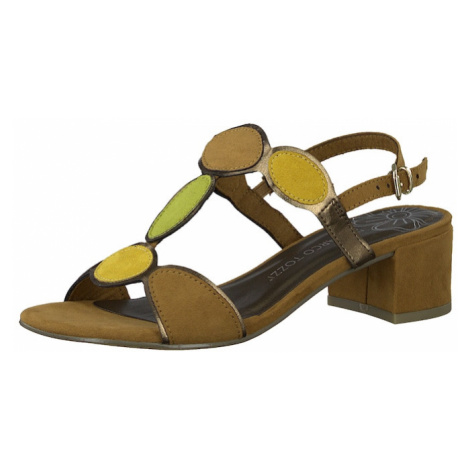 MARCO TOZZI Sandały z rzemykami brązowy