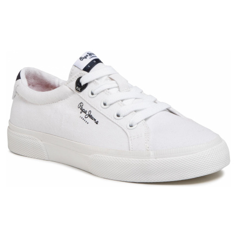 Tenisówki PEPE JEANS - Kenton Basic Boy PBS30444 White 800