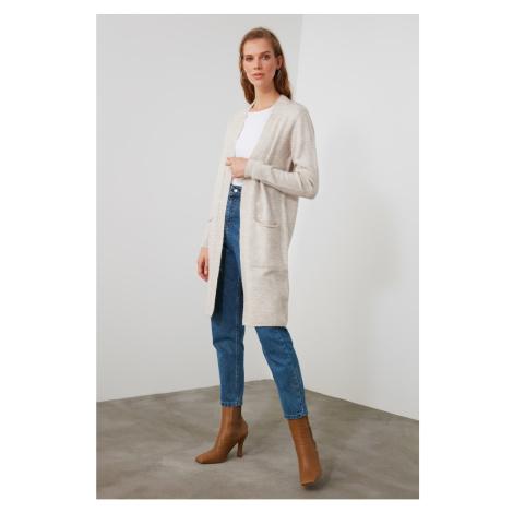 Trendyol Knitwear Cardigan with Beige Pockets