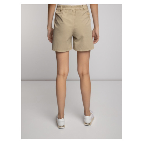 Aeronautica Militare Szorty materiałowe Shorts Pences 191BE074DCT2449 Beżowy Regular Fit