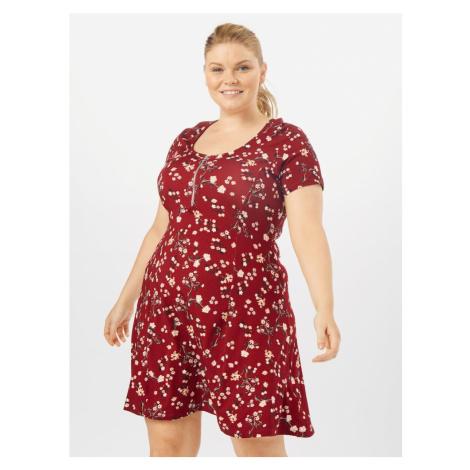 ABOUT YOU Curvy Letnia sukienka 'Ivana Dress' bordowy / mieszane kolory