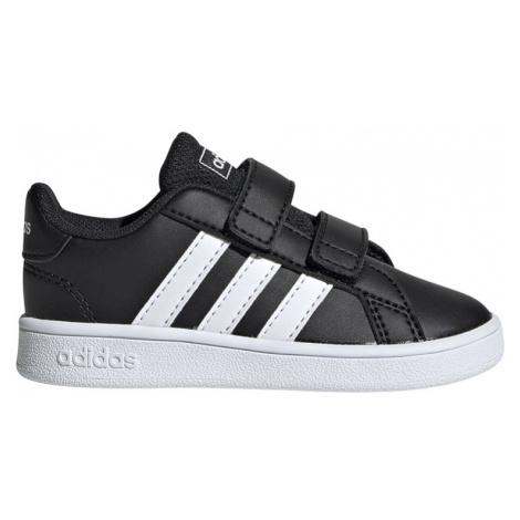 Adidas Grand Court I Dziecięce Czarne (EF0117)