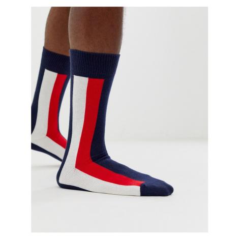Tommy Hilfiger iconic stripe socks in navy