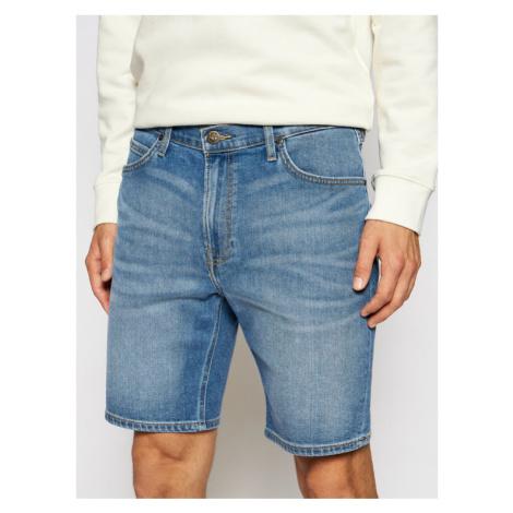 Lee Szorty jeansowe Rider L73FMGVD Niebieski Slim Fit