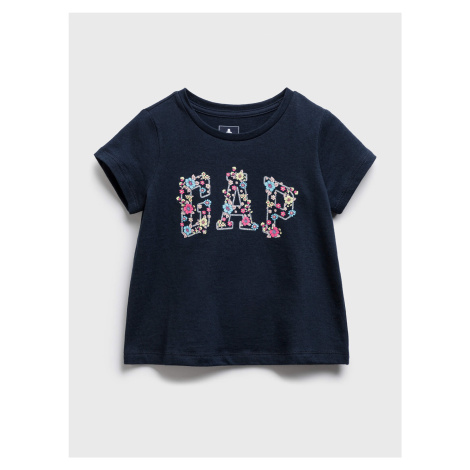 GAP niebieska koszulka dziecięca Logo t-shirt