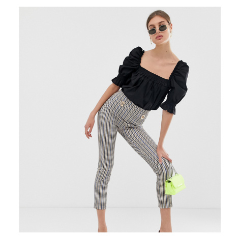 River Island leggings with chain detail in check