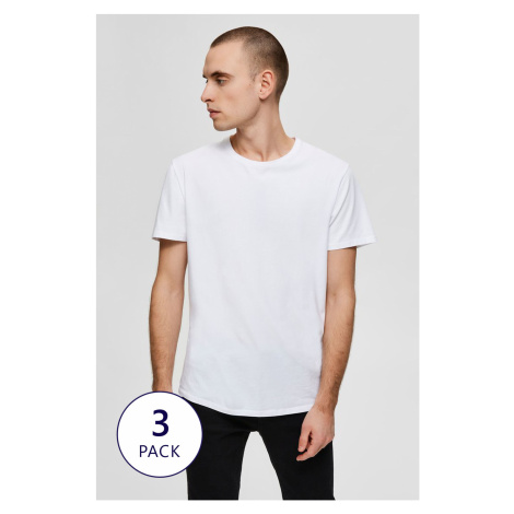 3 PACK T-shirtów Selected Homme New Pima