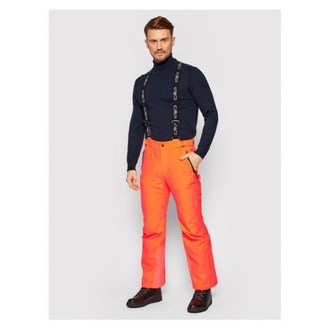 CMP Spodnie narciarskie 3W17397N Pomarańczowy Regular Fit